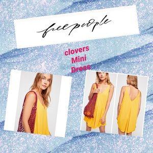 ⭐️free people clovers mini dress